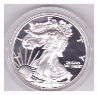 2002 Silver Eagle Proof In Case (w/ Box &) Pristine photo