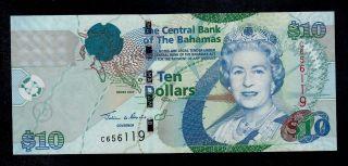 Bahamas 10 Dollars 2005 Pick 73 Unc Banknote. photo