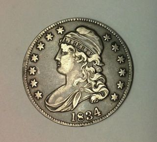1834 Capped Bust Half Dollar,  Details photo