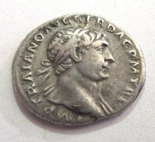 Denar Of Trajanus Rv.  Spes Standing Left photo