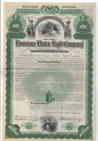 Louisiana Electric Light Bond W/bond Coupons photo