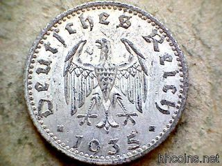 Germany Third Reich 1935 A 50 Reichspfenning,  Aluminium photo