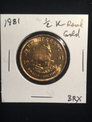 1981 1/2 Oz Half Krugerrand Gold South African Coin photo