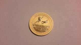 2016 1/10 Oz Pearl Harbor Commemorative, .  9999 Pure Gold.  W/c.  O.  A. photo