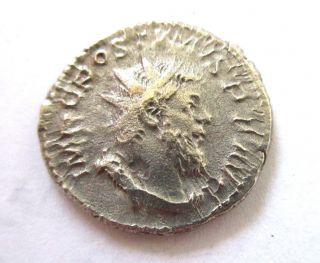 Billon - Antoninian Of Postumus From Colonia (köln) Rv.  Victory Left photo