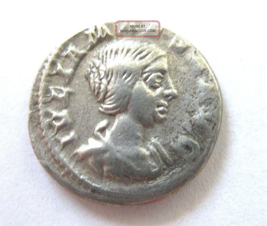 Denar Of Julia Maesa Rv.  Pudicitia Seated Left Coins: Ancient photo