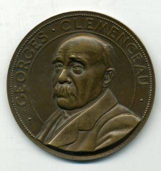 France Medal To Honor Prime Minister Georges Clemenceau 1918 By C H Bertault photo