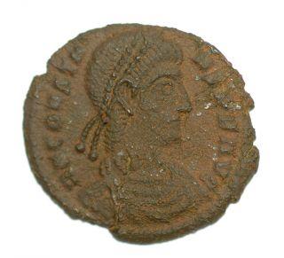 Roman Bronze Coin Follis Constans Radiate Phoenix Siscia Ae18 photo