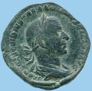 Authentic Roman Ae Sestertius 17.  9 G/29.  35 Mm Anc13553.  79 photo
