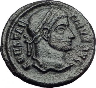 Constantine I The Great 320ad Ancient Roman Coin Wreath Of Sussess I57917 photo