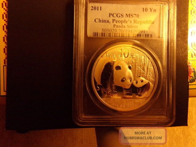 2011 1 Oz Silver Chinese Panda Ms - 70 Pcgs Other Coins of the World photo