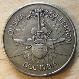 Columbia Space Shuttle Medal,  Sts - 3; Bronze (x120) photo