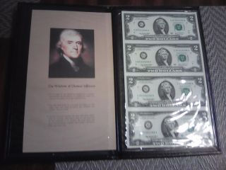 2003 A World Reserve Monetary Exchange Uncut Sheet $2 Bills And Album & Bonus $2 photo