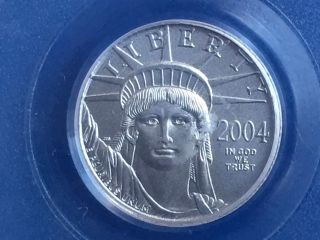 2004 1/10 Oz $10 Platinum American Eagle Coin Pcgs Ms 69 photo