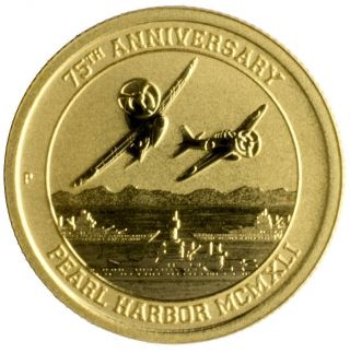 2016 Perth - 1/10 Troy Oz - Pearl Harbor.  9999 Fine Gold photo