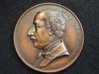 Italy Copper Medal 1863 By Rinzi.  F.