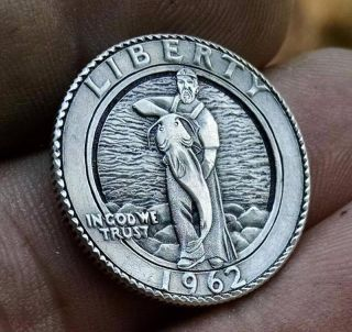 Real Hobo Nickel Hand Carved