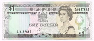 1987 Fiji One Dollar Note - P86a photo