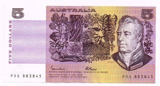 1985 Australia Five Dollars Note - P44e photo