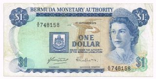 1979 Bermuda One Dollar Note - P28b photo