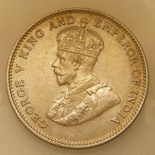 Hong Kong 10 Cents 1935 King George V Unc With Lustrus photo