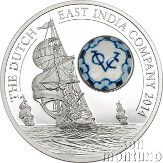 Dutch East India Company Voc - Royal Delft™ Series Silver Coin 2014 Cook Islands photo