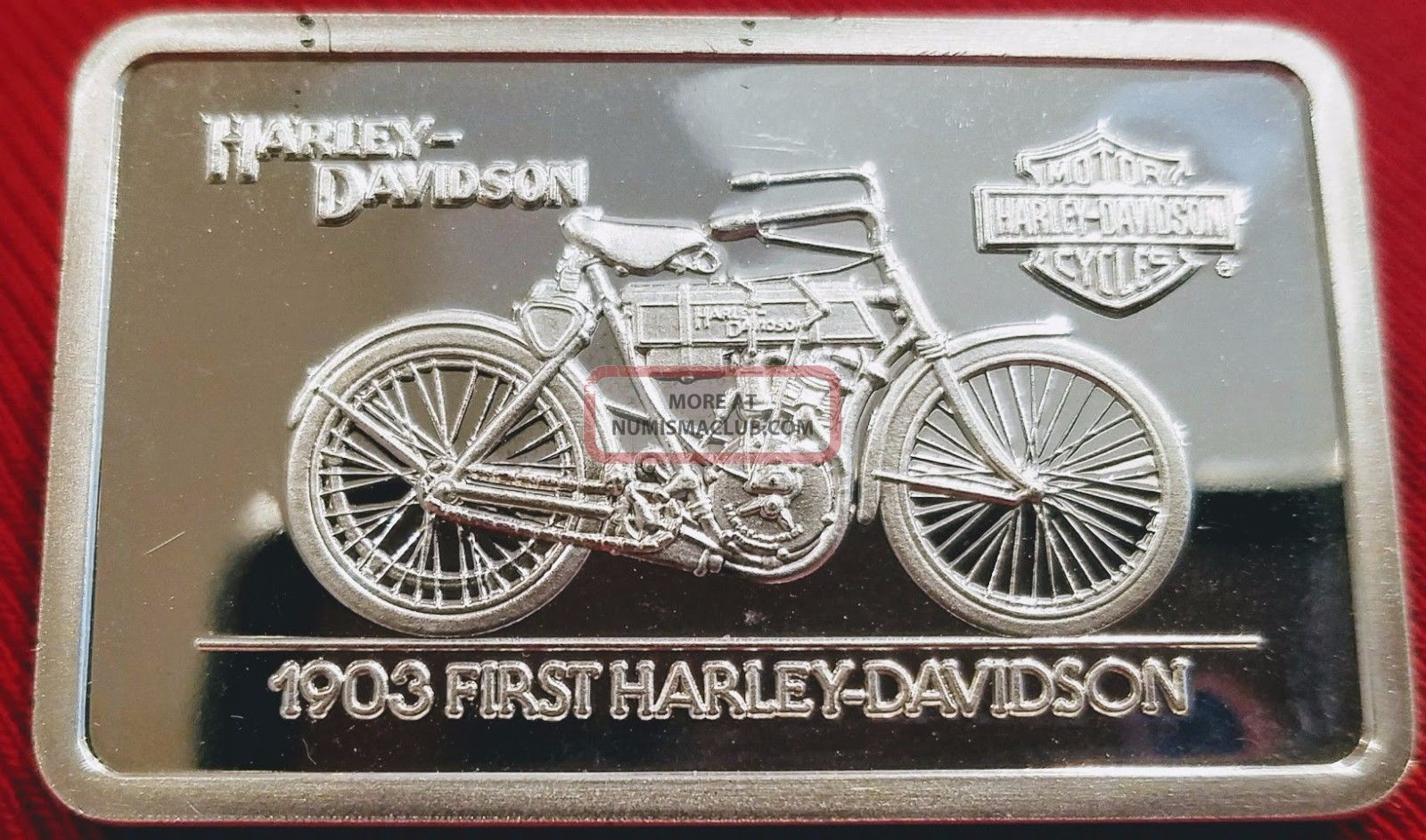Harley Davidson Art Bar 1 4 Oz 999 Silver 1903 First