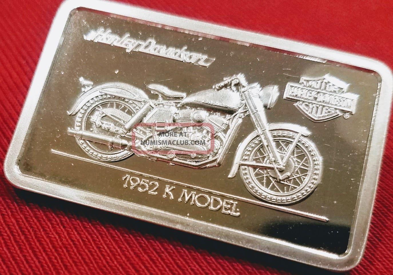 Harley Davidson Art Bar 1 4 Oz 999 Silver 1952 Quot K