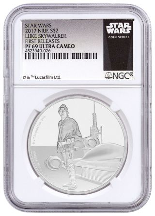 2017 Niue Star Wars Classics Skywalker 1 Oz.  Silver $2 Ngc Pf69 Uc Fr Sku45633 photo