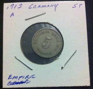 5 Pfennig - Deutsches Reich 1913 A - Old German Empire Coin Pre World War 1 Ww1 photo