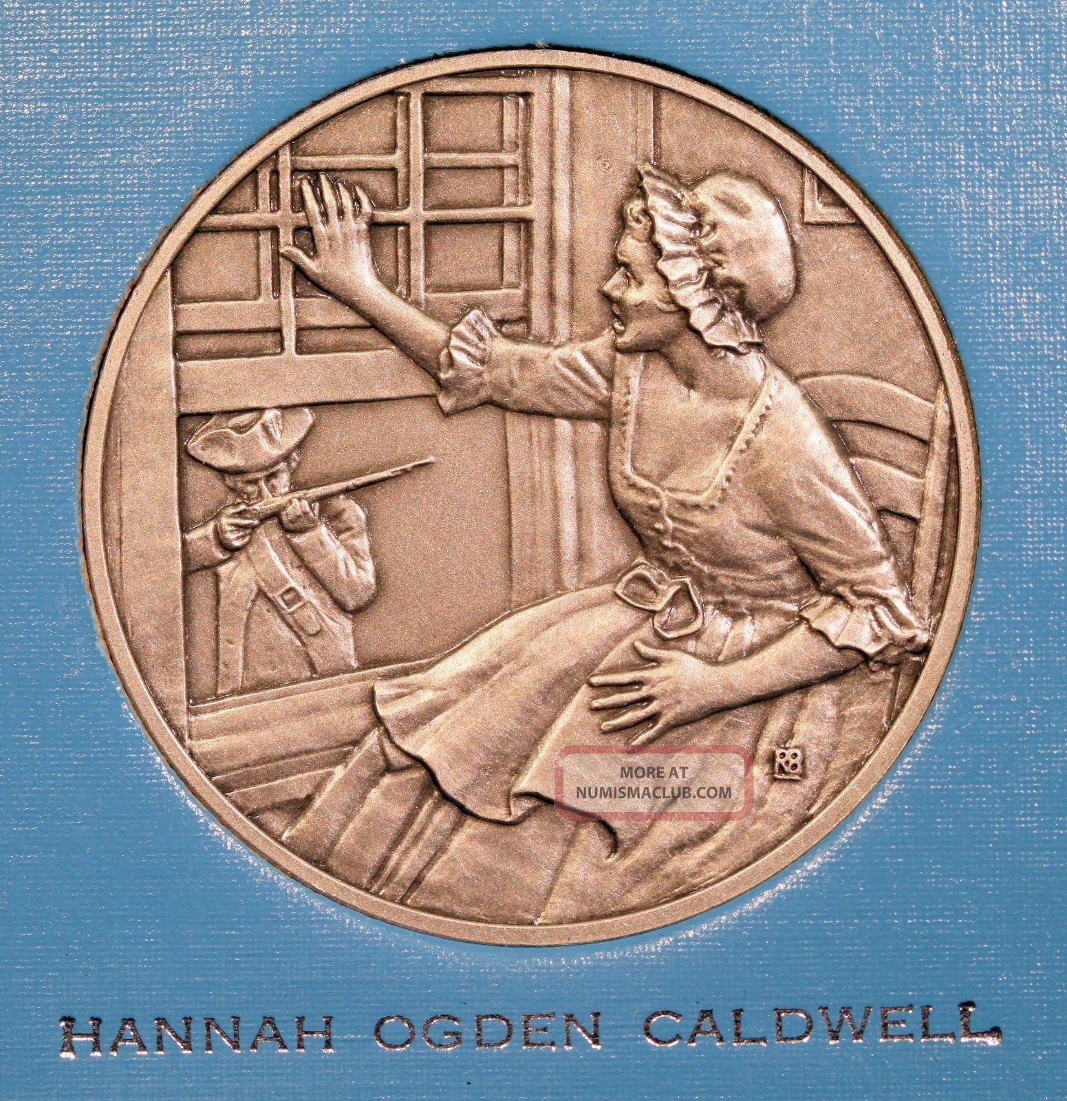 Dar Great Women Of The American Revolution Medal - Hannah Ogden Caldwell Exonumia photo