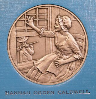 Dar Great Women Of The American Revolution Medal - Hannah Ogden Caldwell photo