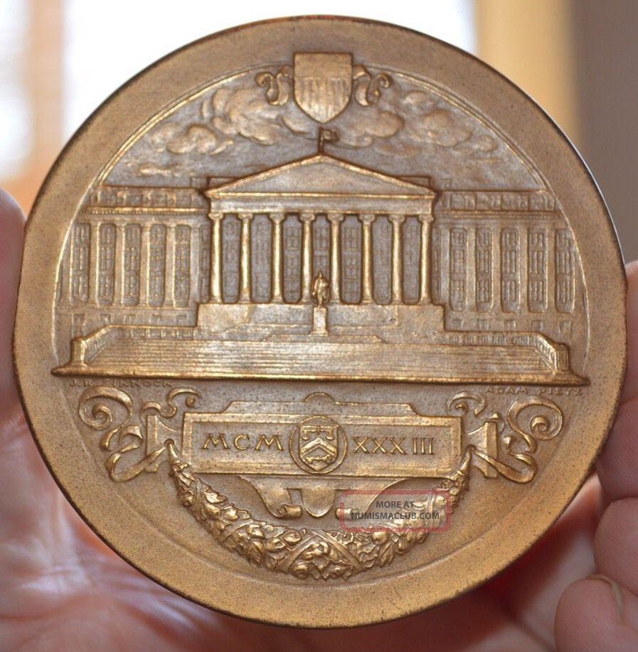 Huge 1933 Us Bronze Medal 3