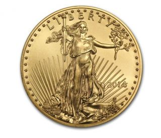 2014 1/4 Oz Gold American Eagle Coin - Brilliant Uncirculated Bu - photo