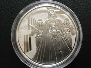 2016 Star Wars Classic - 1oz Darth Vader - 1oz Silver Coin Niue 2dollar Coin photo