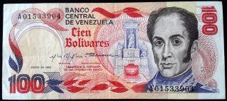 Venezuela Banknote 100 Bolívares 1980 P59 V016 photo