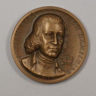 Josiah Bartlett Declaration Of Independence Signer Small Bronze Medal photo