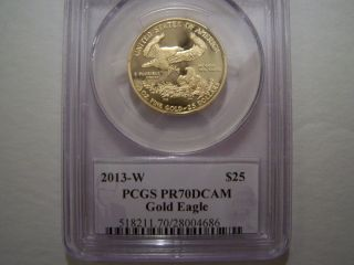 Us $25 Gold Eagle 2013 - W Pcgs Pr70dcam photo