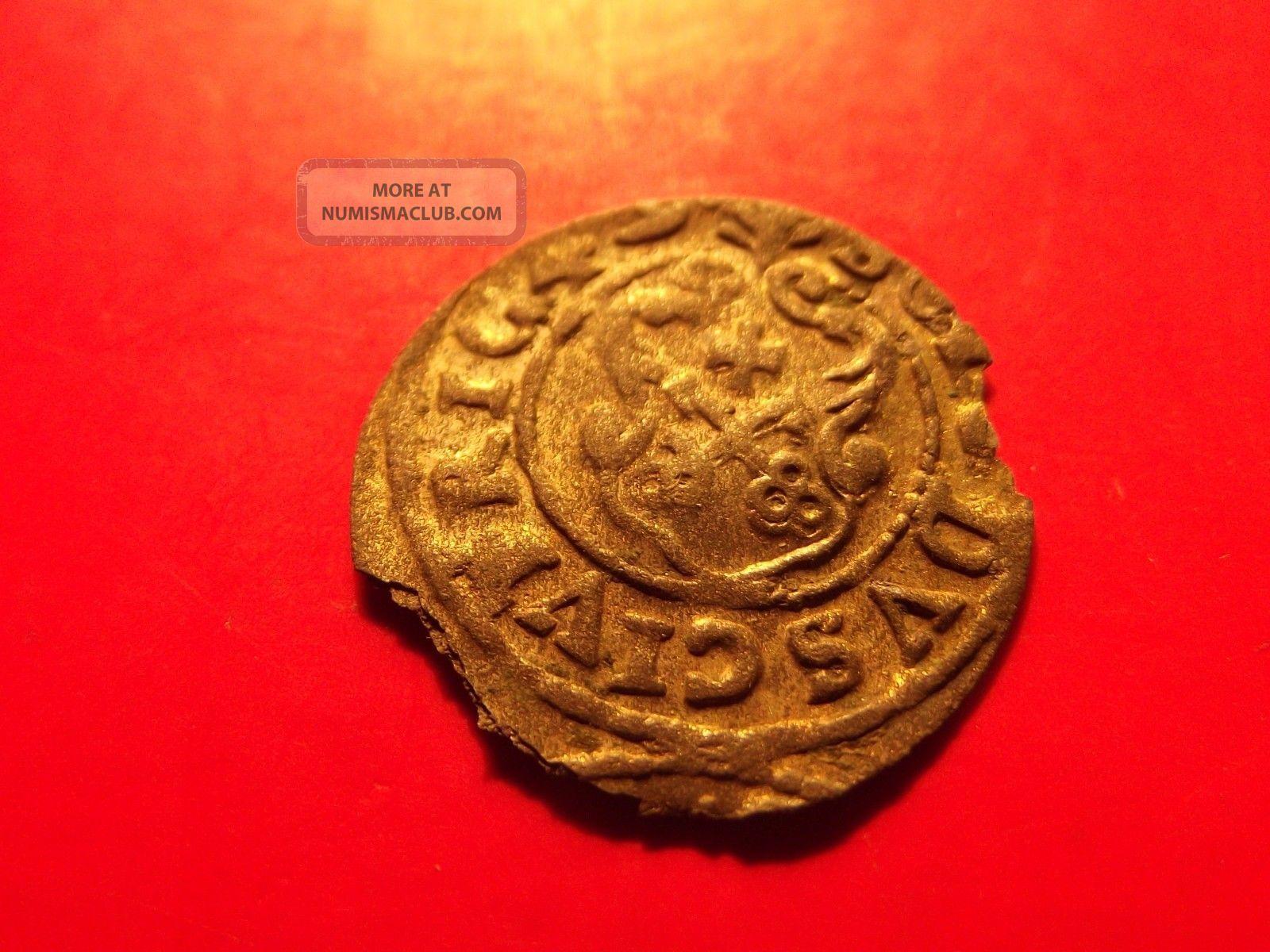 Sweden Livonia 1649 Queen Christina Riga Schilling Solidus Medieval Silver Coin Coins: Medieval photo