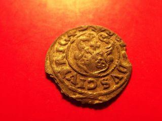 Sweden Livonia 1649 Queen Christina Riga Schilling Solidus Medieval Silver Coin photo