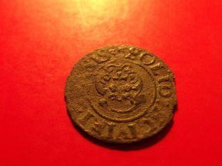 Sweden Livonia 1635 Queen Christina Riga Schilling Sol Medieval Silver Coin photo