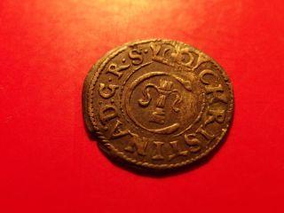 Sweden Livonia 1649 Queen Christina Schilling Solidus Medieval Silver Coin Ae photo