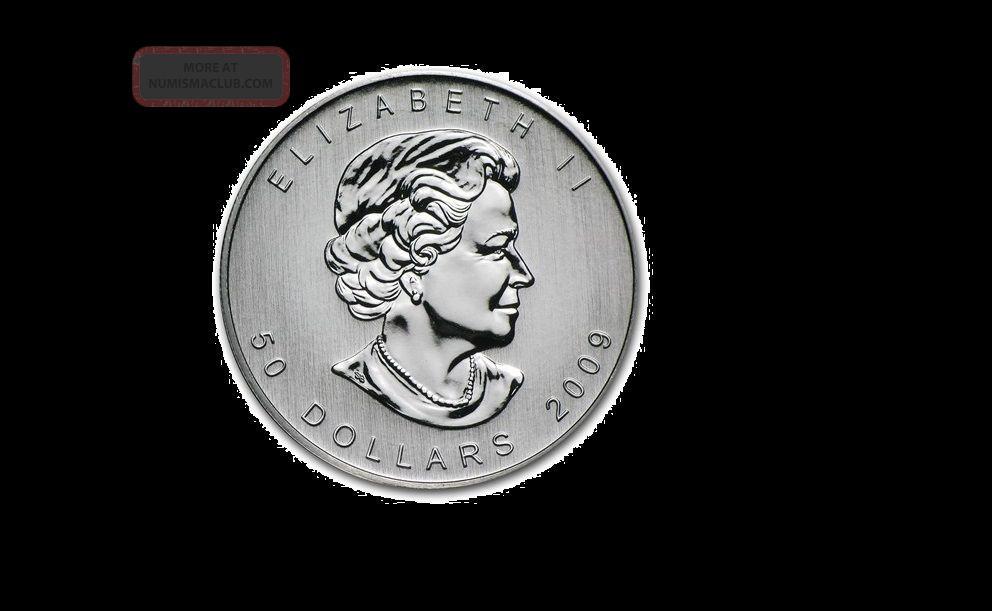 2009 - 1 Oz Canadian Palladium.  9995 Fine - Bu - Maple Leaf $50 Coin (206) Bullion photo