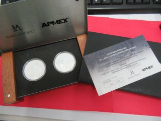 2015 Mexico 1 Onza Silver Proof & Proof Like Box & 0028/1000 photo