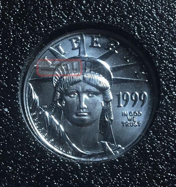 1999 1/10 Oz Platinum American Eagle Coins photo