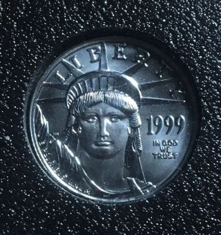 1999 1/10 Oz Platinum American Eagle photo