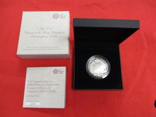 Royal Christening Of Princess Charlotte 5 Pound Silver Proof Coin Mib (gdc) photo