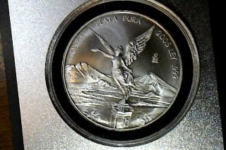 2005 Mexico One Ounce Silver Libertad - Plata Pura - Frosty White photo
