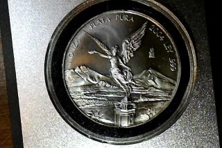 2004 Mexico One Ounce Silver Libertad - Plata Pura - photo