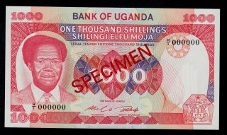 Uganda Specimen 1000 Shillings (1983) Pick 23 Unc Banknote. photo